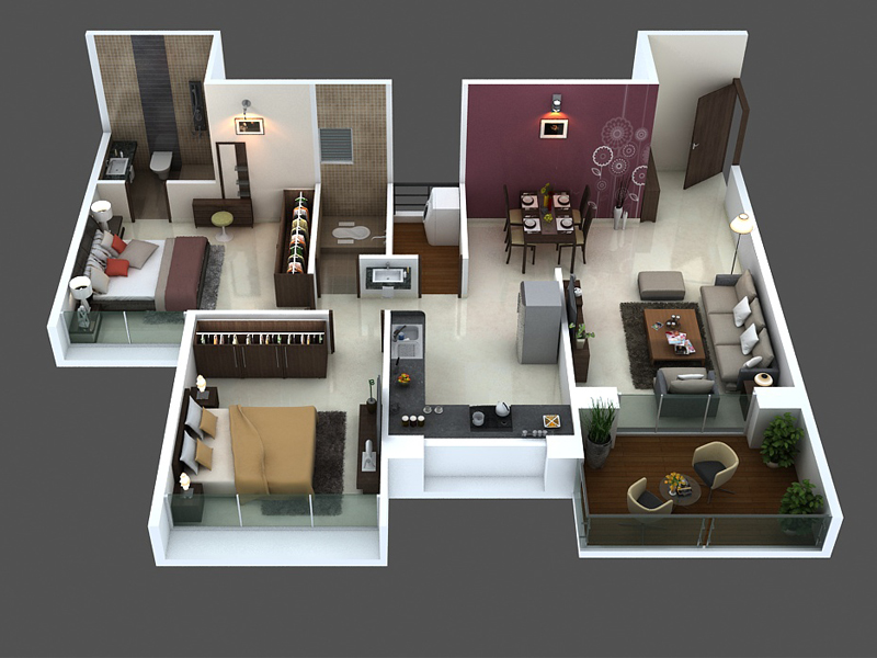 Amodini Apartment 2BHK Premium.