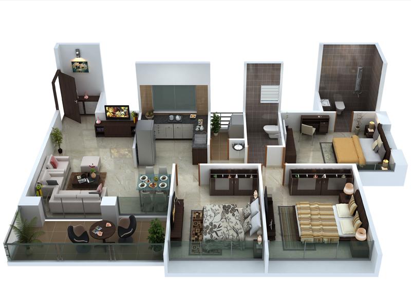 Amodini Apartment 3BHK Gold image.