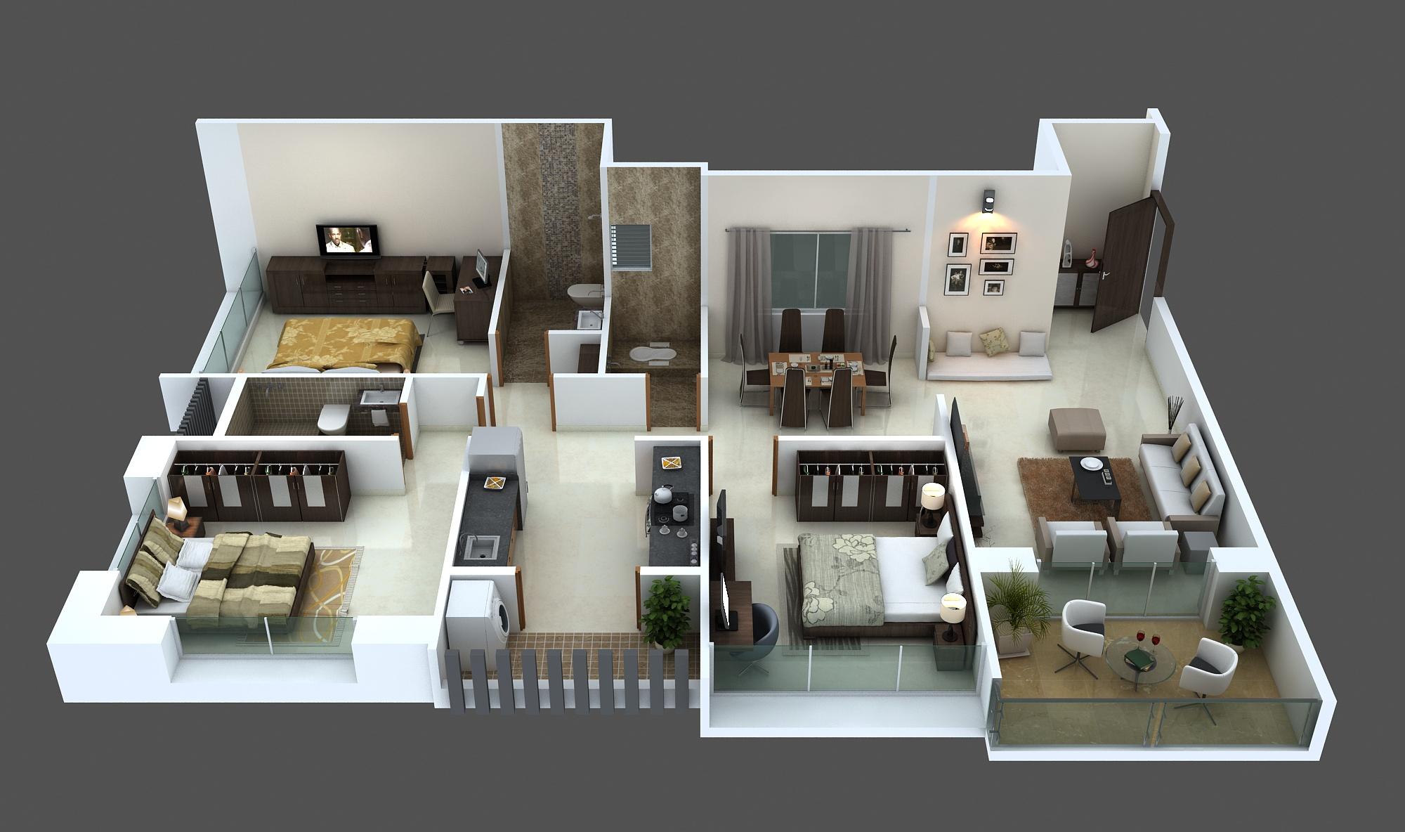 Amodini Apartment 3BHK Premium image.