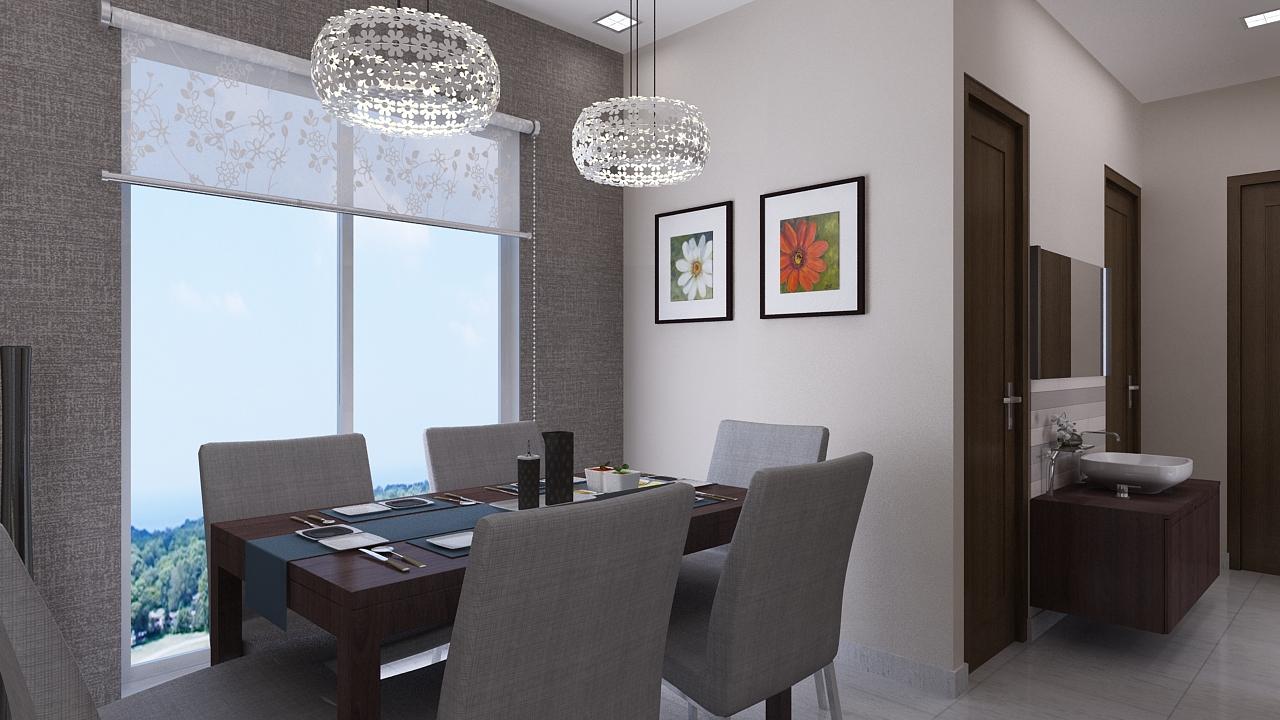 Amodini Apartment Living dinning image.