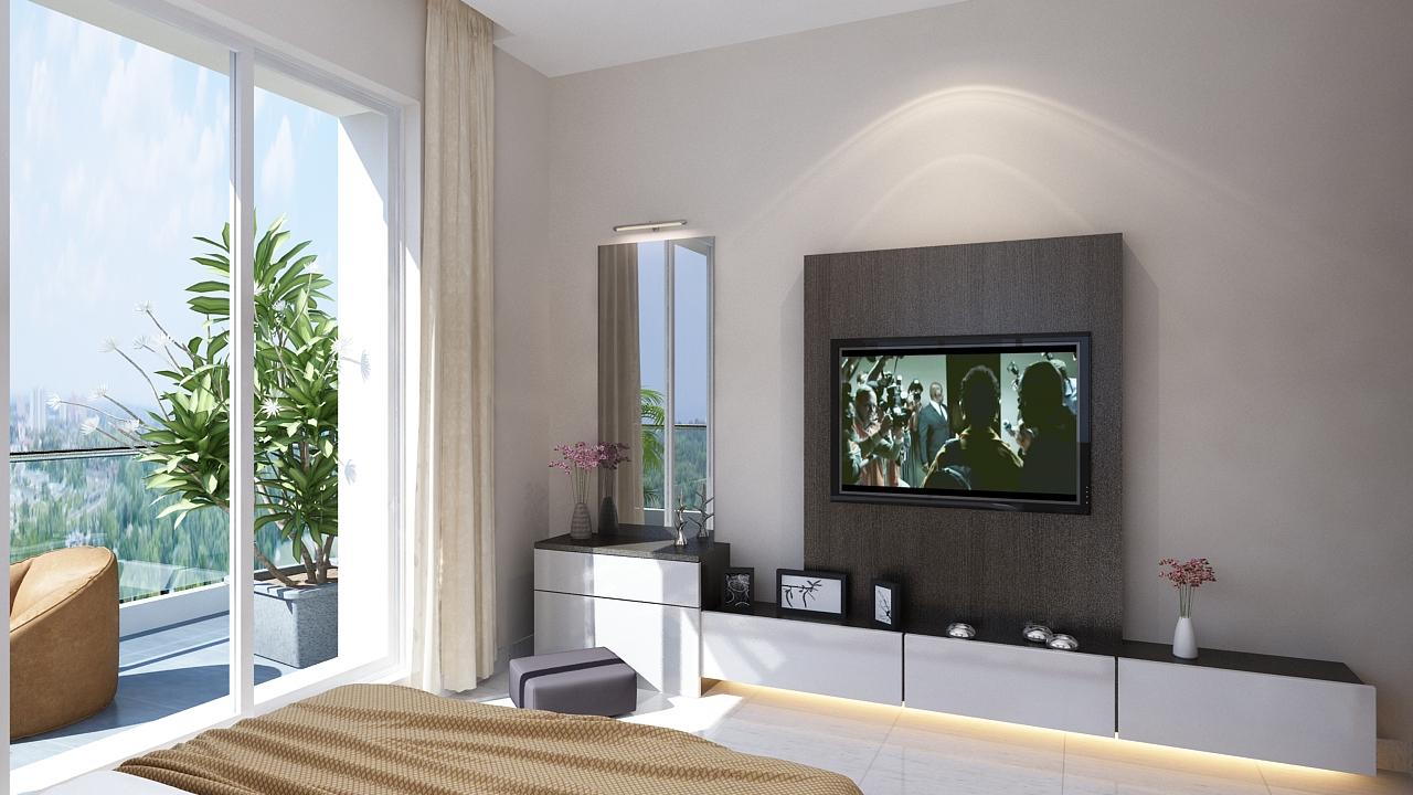 Amodini Apartment Master bed image.